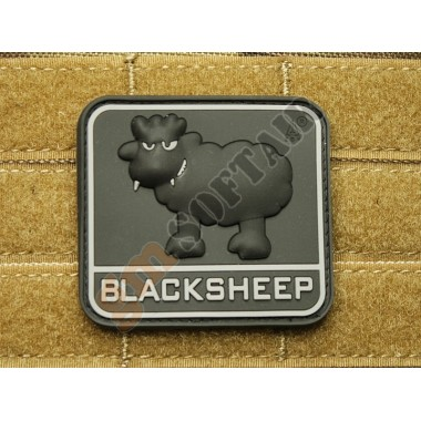 Patch Black Sheep Swat (nera con scritta grigia)