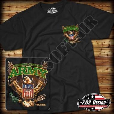 T-Shirt Army Fighting Eagle Nera tg.M