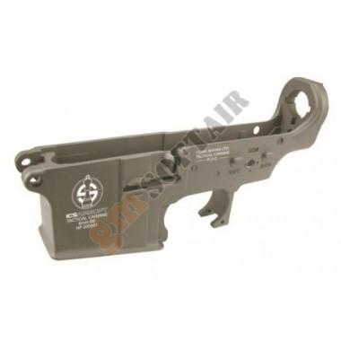 Lower Receiver in metallo M4/M16 TAN con Logo ICS