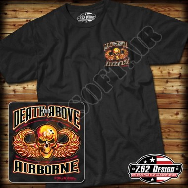 T-Shirt Airborne Death From Above Nera tg.XL