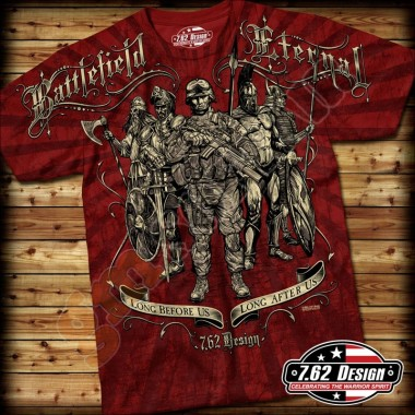 T-Shirt Battlefield Eternal Rossa tg.L