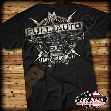 T-Shirt Full-Auto Pub Nera tg.XL