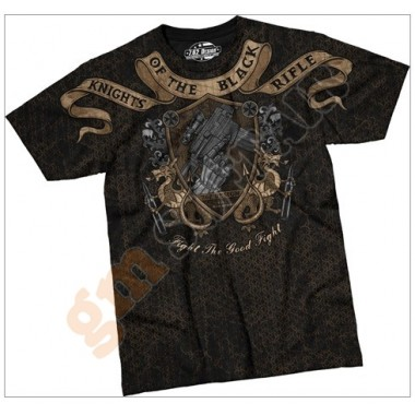 T-Shirt Knights of The Black Rifle Nera tg.M