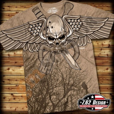 T-Shirt USMC Swift Silent Deadly Sabbia tg.L
