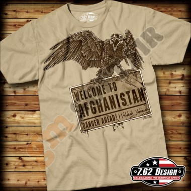 T-Shirt Welcome to Afghanistan Sabbia tg.XL