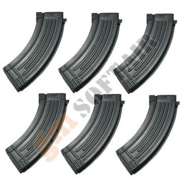 Set da 6 Caricatori Monofilari per AK47 da 150bb (P186M-1 CLASSIC ARMY)