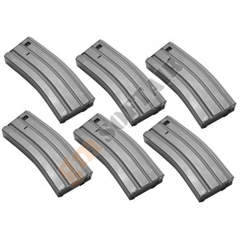 Set da 6 Caricatori Monofilari per M4/M16 da 130bb