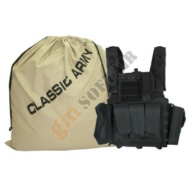 Tactical Vest Classic IV (Black) (E031 CLASSIC ARMY)