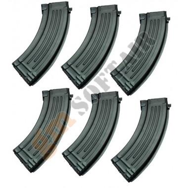 Set da 6 Caricatori Maggiorati per AK47 da 600bb