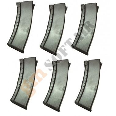 Set da 6 Caricatori Maggiorati per AK74 da 500bb Neri