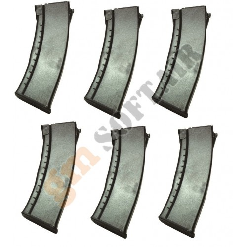 Set da 6 Caricatori Maggiorati da 600 bb per AK47