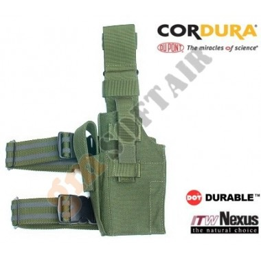 Tactical Thigh Holster - Left Handed OD
