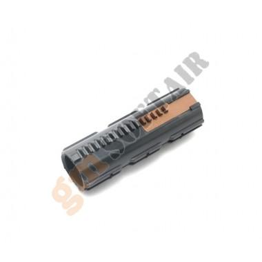 Pistone Semidentato con 5 Denti in Metallo per M4 BlowBack