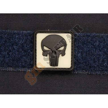 Patch Black Punisher Fluo