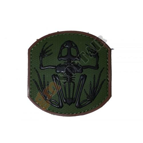 Patch PVC Frog Skeleton Verde