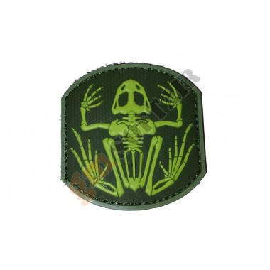 Patch PVC Frog Skeleton Tono su Tono Verde