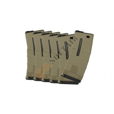 Set da 6 Caricatori Monofilari T-Tactical per M4 da 180bb TAN