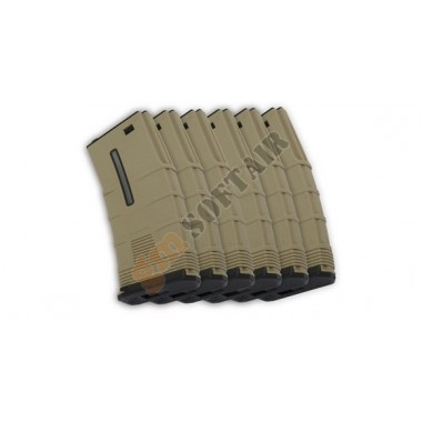 Set da 6 Caricatori Monofilari T-Tactical per M4 da 45bb TAN