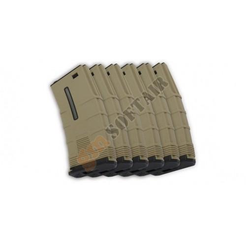 Box 6 Caricatori Monofilari da 45bb T-Tactical per M4 TAN
