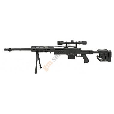 MB4411D Sniper Rifle con Ottica e Bipiede Nero