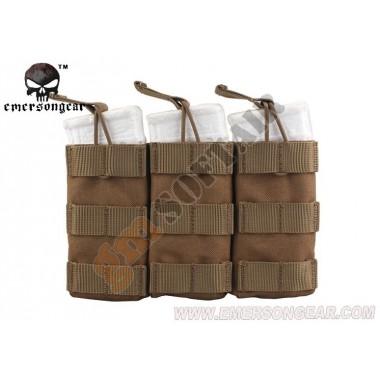 Tasca Porta Caricatore Triplo Open Top Coyote Brown
