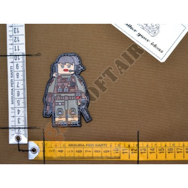 Patch PVC Donna Soldato Lego