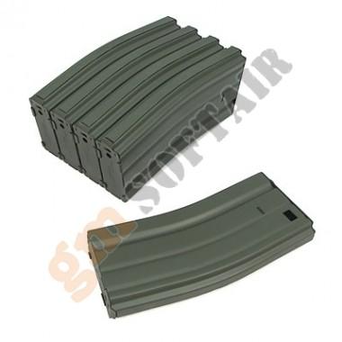 Set 5 Caricatori in Metallo da 68bb M4/M16 Verde