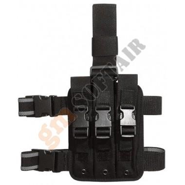 Porta caricatore cosciale triplo per MP5 Nero