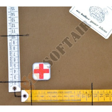 Patch PVC Croce Medico Rossa sfondo Bianco