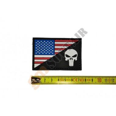 Patch PVC Bandiera USA-Skull