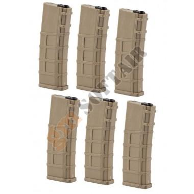 Box 6 Caricatori REAL CAP 30 bb TAN Lonex (GB-06-09)