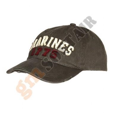 Cappellino da Baseball Stone Washed Marines 1775 Verde