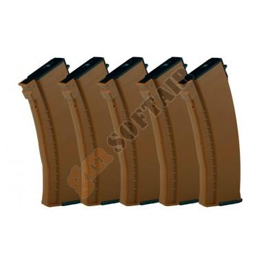 Set da 5 Caricatori in ABS da 120bb per AK74 Bakelite