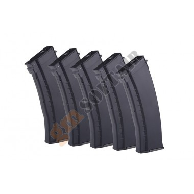 Set da 5 Caricatori in ABS da 120bb per AK74 Plum Black (EL-74NBX5 E&L)