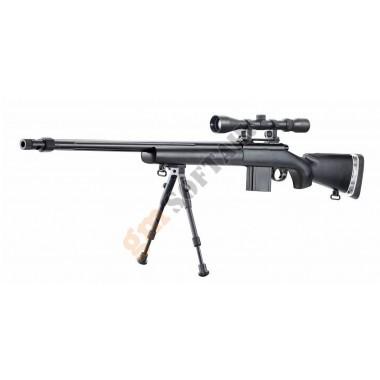 MB4405D Sniper Rifle con Ottica e Bipiede Nero