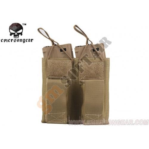 Tasca Porta Caricatore Doppio (5.56 e 9mm) Open Top TAN