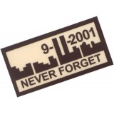 Patch Never Forget 911 TAN Plastificata