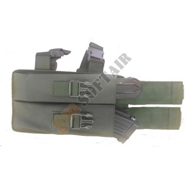Porta caricatore cosciale per P90 VERDE