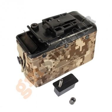 Caricatore Elettrico 1200 bb per M249 AOR1 (P252P-D CLASSIC ARMY)