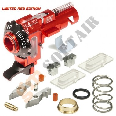 Gruppo Hop Up ME - PRO in Alluminio CNC per M4/M16 Limited RED Edition (MX-HOP005PRE MAXX MODEL)
