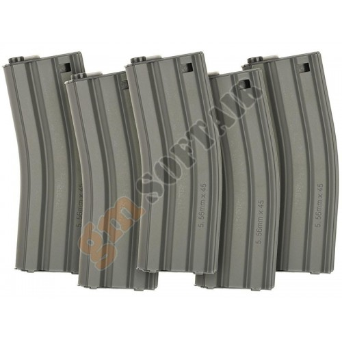 Set da 5 Caricatori Monofilari per M4 da 79bb Grey (G-08-112 G&G)