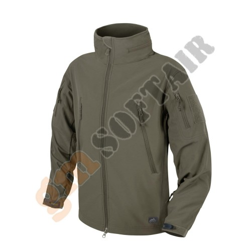 Gunfighter Jacket Shark Skin Windblocker Mud Brown tg. M (KU-GUN-FM Helikon-Tex)