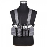 D3CR Tactical Chest Rig Wolf Grey (EM7442 Emerson)