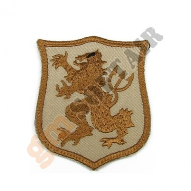 Patch Seal Gold Team Lion S TAN Ricamata