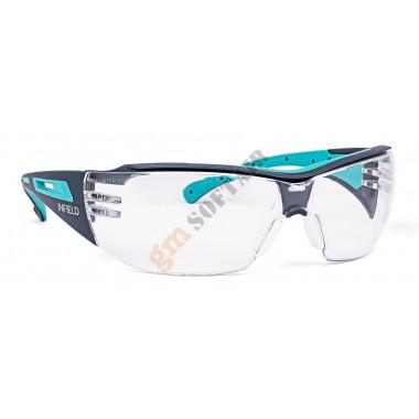 Occhiale Victor Lente Trasparente con Montatura Nera-Azzurra (9753155 INFIELD)