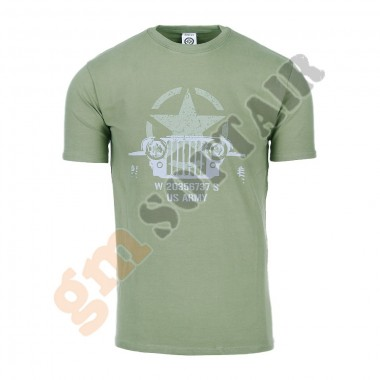 T-Shirt Allied Star - Willy Jeep Verde tg. XXL (FOSTEX)