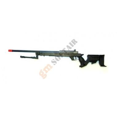 Fucile a molla MB04 Well Nero con Bipiede