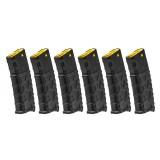 Set da 6 Caricatori VMS Maggiorati per M4/M16 da 330bb Gialli / Neri (P521P- CLASSIC ARMY)