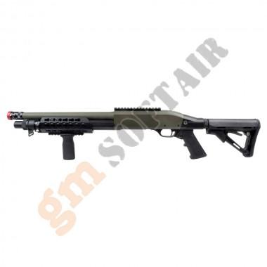 Fucile a Pompa 366 in Metallo OD/Nero (CM366B CYMA)