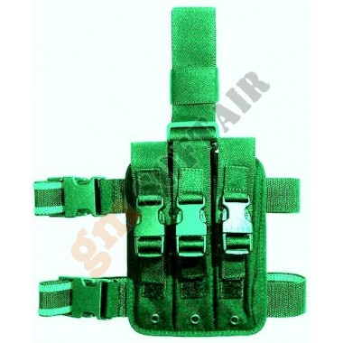 Porta caricatore cosciale triplo MP5 Verde